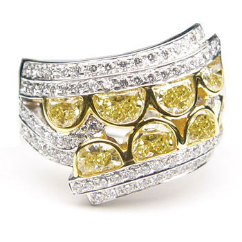 View Yellow Half-Moon Ring