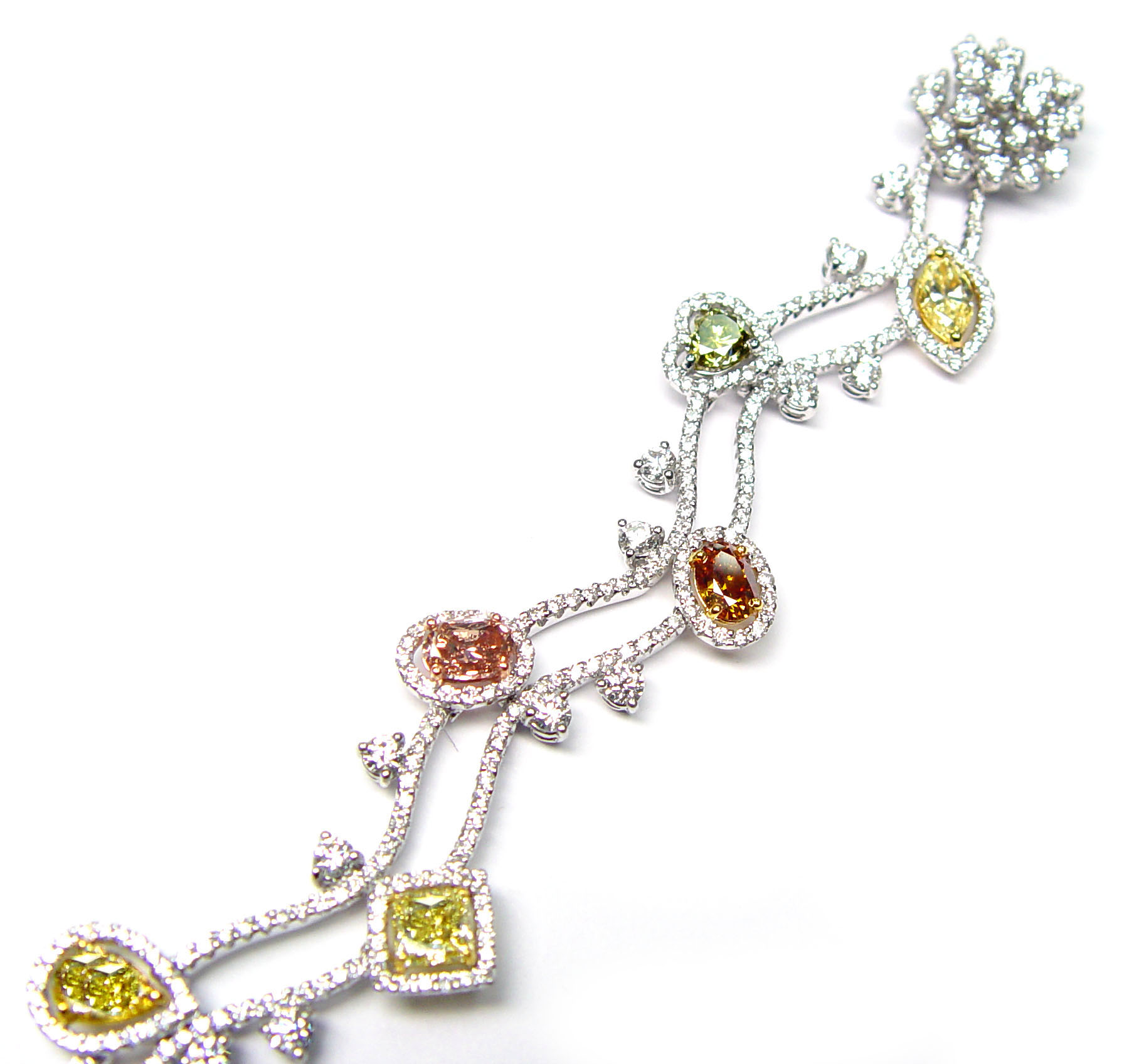 View Natural Multicolor Diamond Bracelet